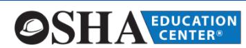 OSHA Education Center Coupon Code